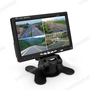 Universal Car Four-Segment with 7 inch color TFT LCD digital panel Monitor