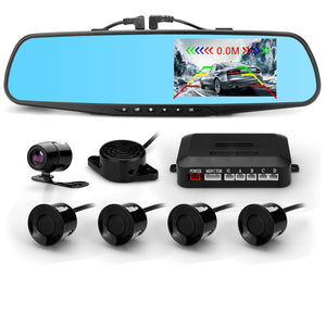 Front&Rear Mirror Camera With Video Parking Sensors
