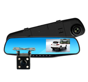 4.3 Inch 1080P Dual Lens Dash Cam Front and Rear View Mirror Car Camera DVR Car Black Box M15