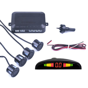 Car Auto Parktronic LED Parking Sensor With 4 Sensors