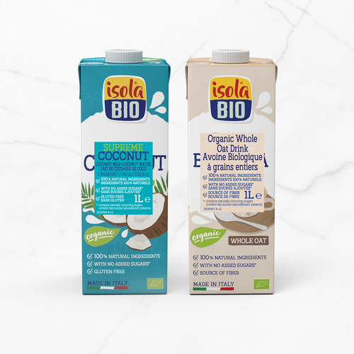 Introducing to Isola Bio: Coconut Supreme and Oat Barista!