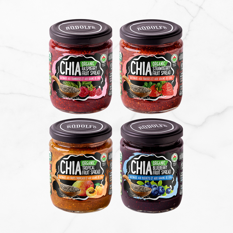 New Product: Rudolf's Chia Spreads!