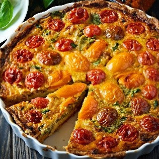 Rudolfs Tomato Basil Organic Vegetable Spread Quiche