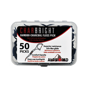 Charbright -Bamboo-Charcoal Floss Pick - (50ct)
