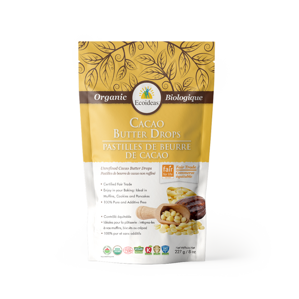 Organic Fair Trade Cacao Butter drops - (227g)²
