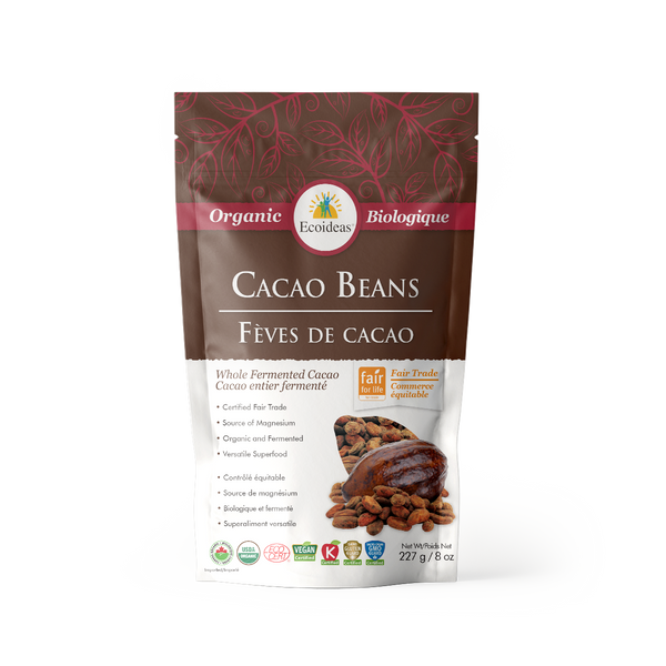 Organic Fair Trade Cacao Beans - (227g)²