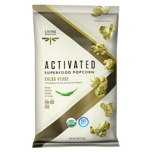 Superfood Popcorn - Salsa Verde, w/Live Cultures - (113g)