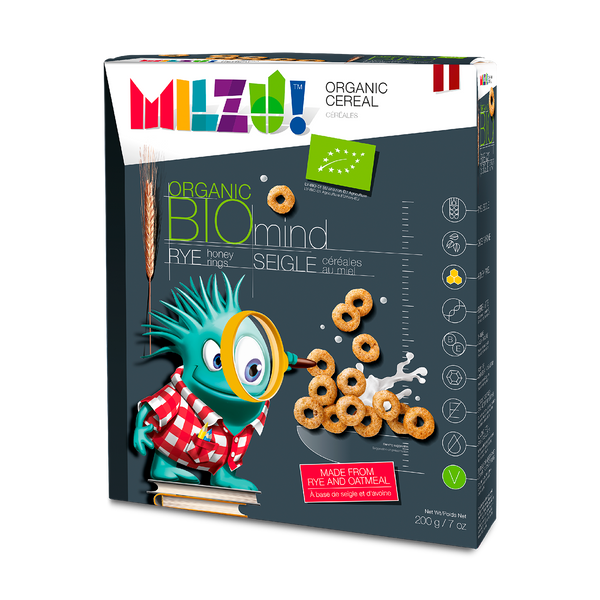 Milzu - Org. Cereal Rings With Honey - (200g)