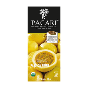 Passion Fruit Organic Chocolate Bar - (50g)