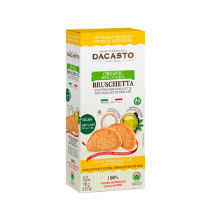 Organic Spelt Bruschetta with Olive Oil & Sea Salt - (100g)