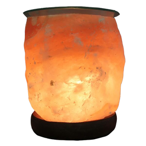 "Salt Lamp Diffuser w/glass top - (5"")"