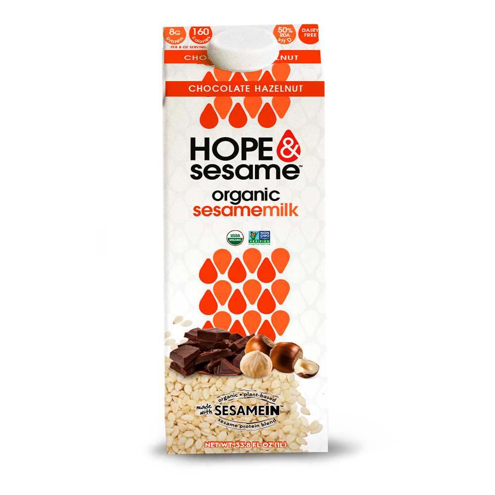 Hope & Sesame - Chocolate Hazelnut Sesame Milk - (1000ml)