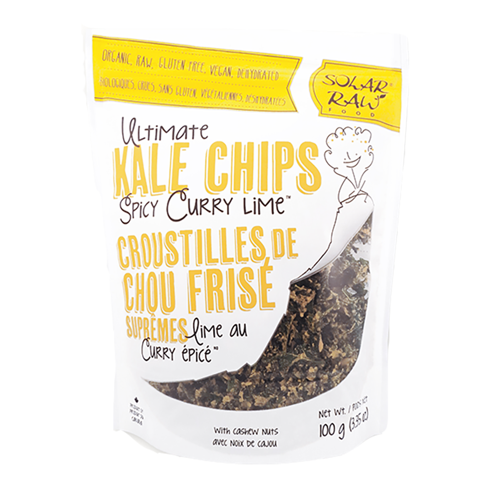 Ultimate Kale Chips - Spicy Curry Lime - (100g)