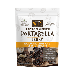 Roasted Garlic & Black Pepper Mushroom Jerky - (57g)