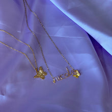 Load image into Gallery viewer, NECKLACE SET - Custom Name + Butterfly
