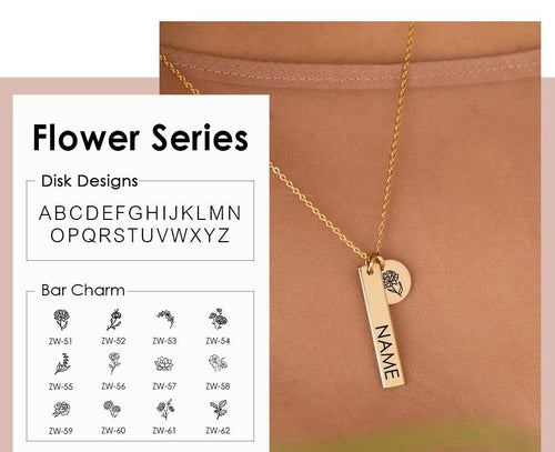 Engraving - Name Flower (PREORDER)