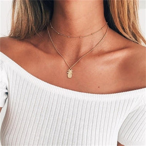 Necklace- Choker Pineapple