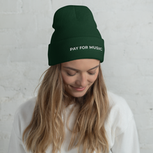 Load image into Gallery viewer, Pay For Music Cuffed Beanie