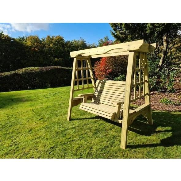 Cottage Three-Seater Garden Swing Seat