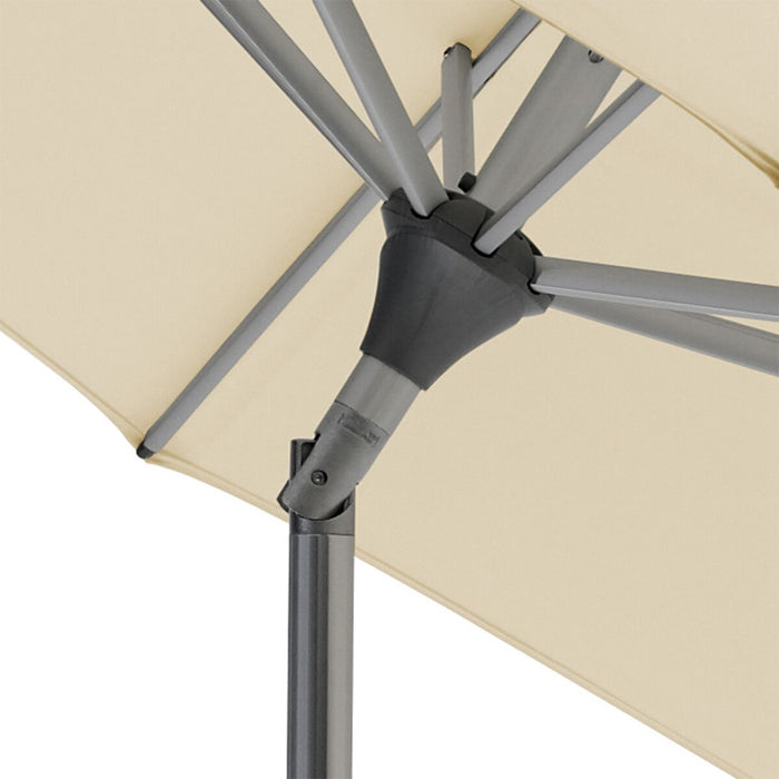 Glatz Alu Twist Parasol 2.5 x 2.0m Rectangle Class 2 - Cream/Ecru 150