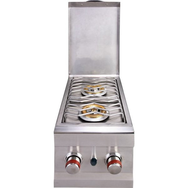 SunStone Outdoor Kitchen Double Side Burner