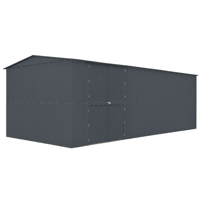 Lotus 10x23 Metal Workshop & Optional 4 Foot Extension - Anthracite Grey