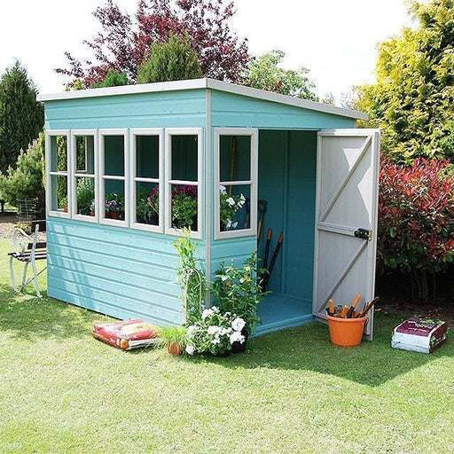 Shire Sun Pent Shiplap Potting Shed 8x6