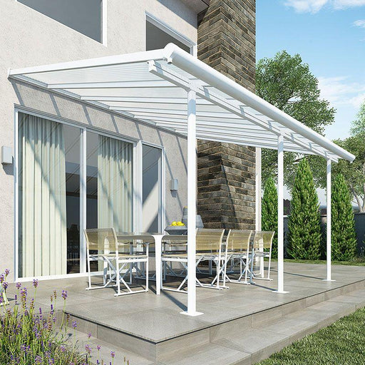 Palram Sierra Patio Cover 3m x 4.25m White Clear