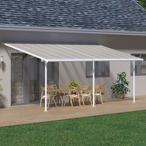 Palram Sierra Patio Cover 3 x 6.1m White Clear