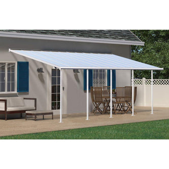 Palram Sierra Patio Cover 3 x 7.3m White Clear