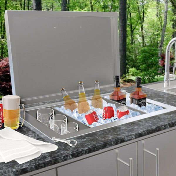 SunStone Outdoor Kitchen Drop In Ice Chest