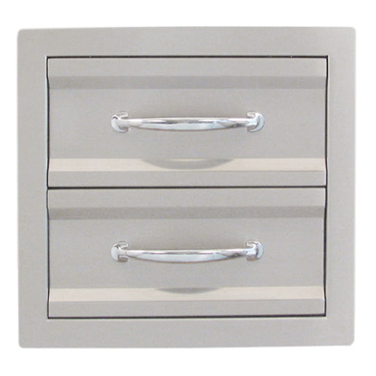 SunStone Outdoor Kitchen Premium Double Drawers