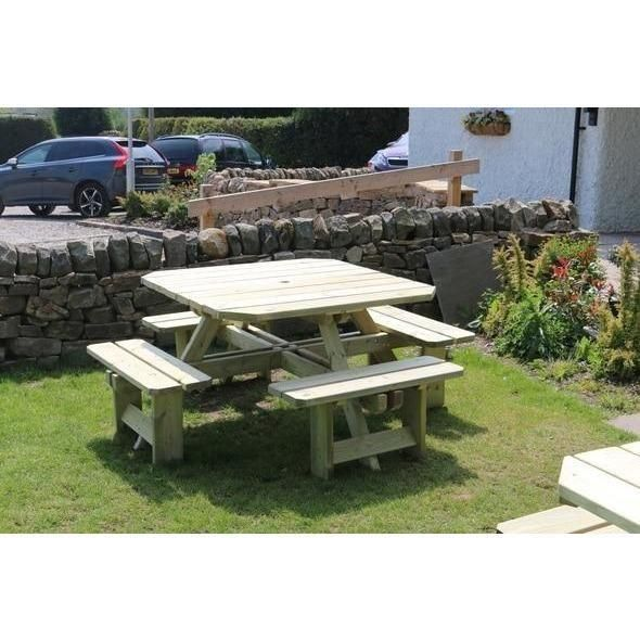 Westwood Square Eight-Seater Picnic Table