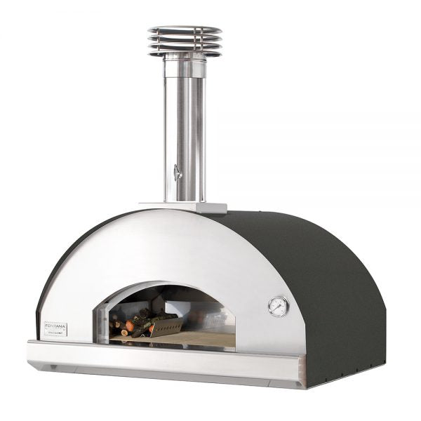 Fontana Mangiafuoco Anthracite Build In Wood Fired Pizza Oven
