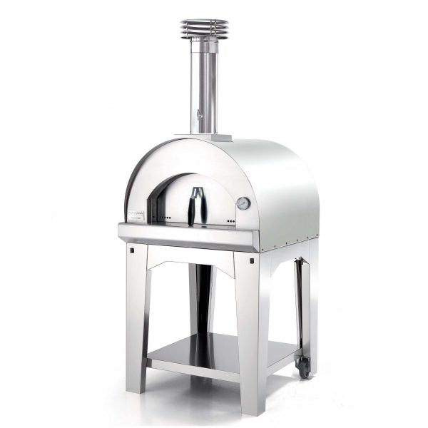 Fontana Margherita Stainless Steel Wood Fired Pizza Including Trolley