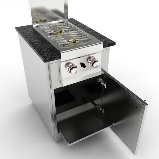 SunStone Outdoor Kitchen Cabinet for Double Burner or Cocktail Station