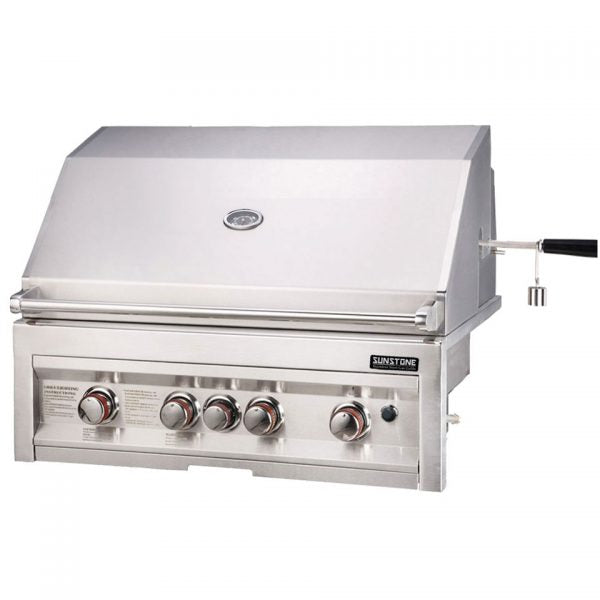 SunStone Outdoor Kitchen Sun Series 4 Burner Gas Grill with Infrared
