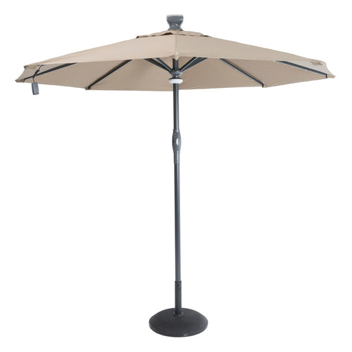 Norfolk Leisure Solar Automatic Umbrella 3M Taupe