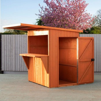 Shire Garden Bar Pent Roof 6x4
