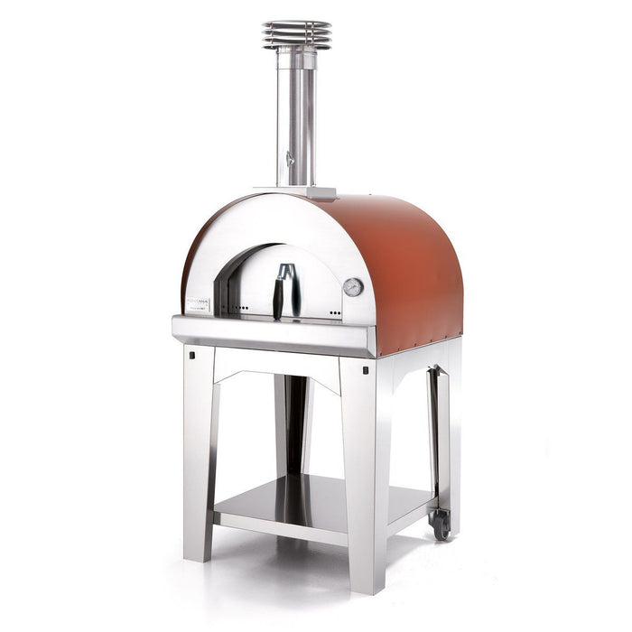Fontana Margherita Rosso Wood Pizza Oven Including Trolley