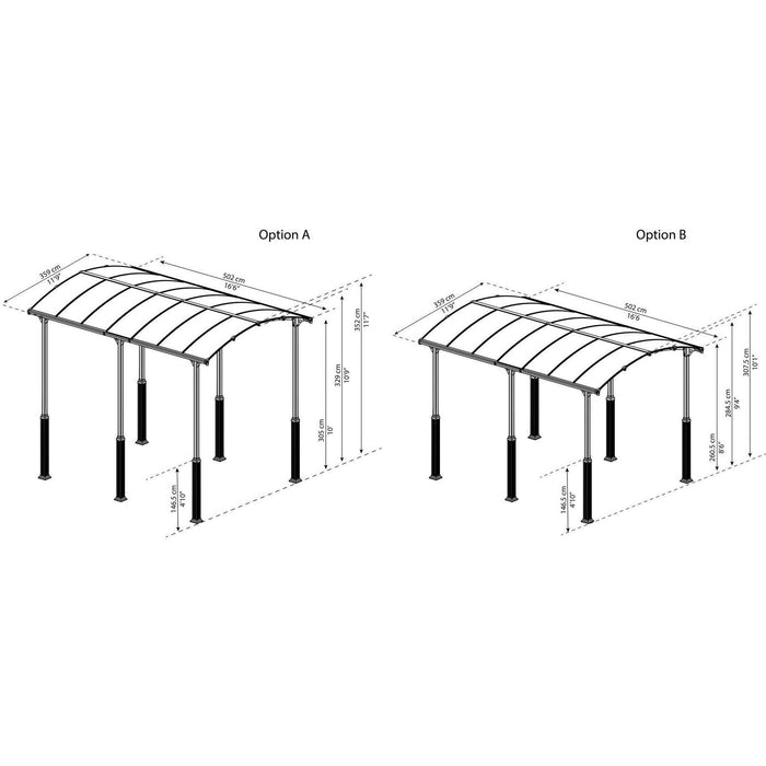 Palram Arcadia Alpine 5000 12 x 16 ft Carport