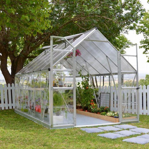 Palram Balance 8 x 12 ft Greenhouse in Silver - Extended