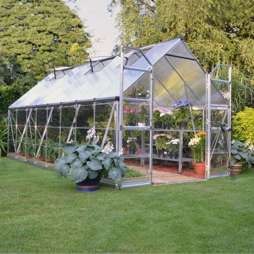 Palram Balance 8 x 16 ft Greenhouse in Silver - Extended