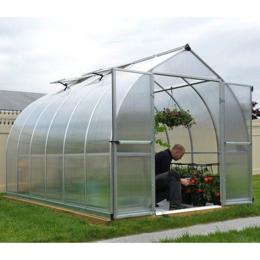 Palram Bella 8 x 12 ft Greenhouse in Silver