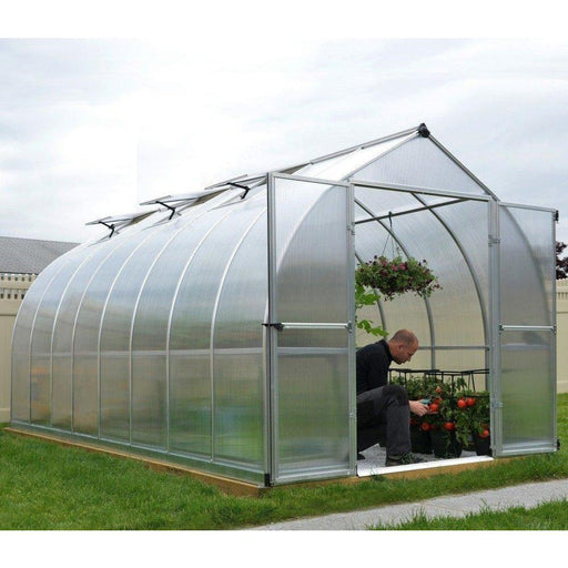 Palram Bella 8 x 16 ft Greenhouse in Silver