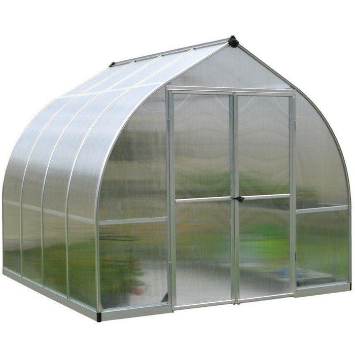 Palram Bella 8 x 8 ft Greenhouse in Silver