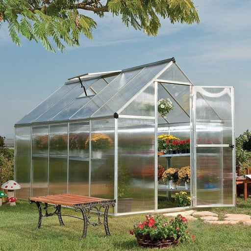 Palram Mythos 6x10 Silver Greenhouse with Twin wall panels