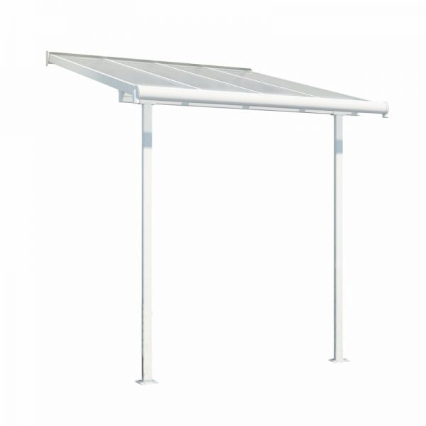 Palram Sierra Patio Cover 2.3m x 2.3m White Clear