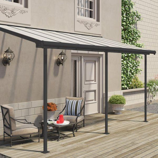 Palram Sierra Patio Cover 2.3m x 4.6m Grey Clear
