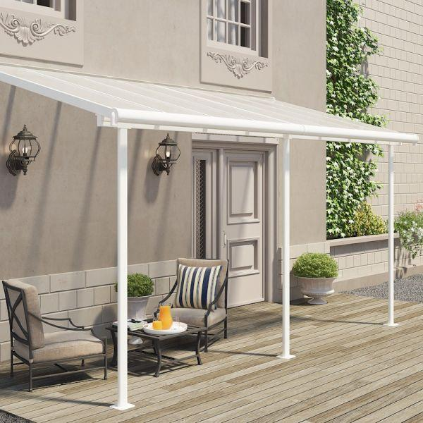 Palram Sierra Patio Cover 2.3m x 4.6m White Clear